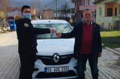 Ladik Vefa Sosyal Destek Grubu 65 yaş üstü kişiye otomobilini götürdü