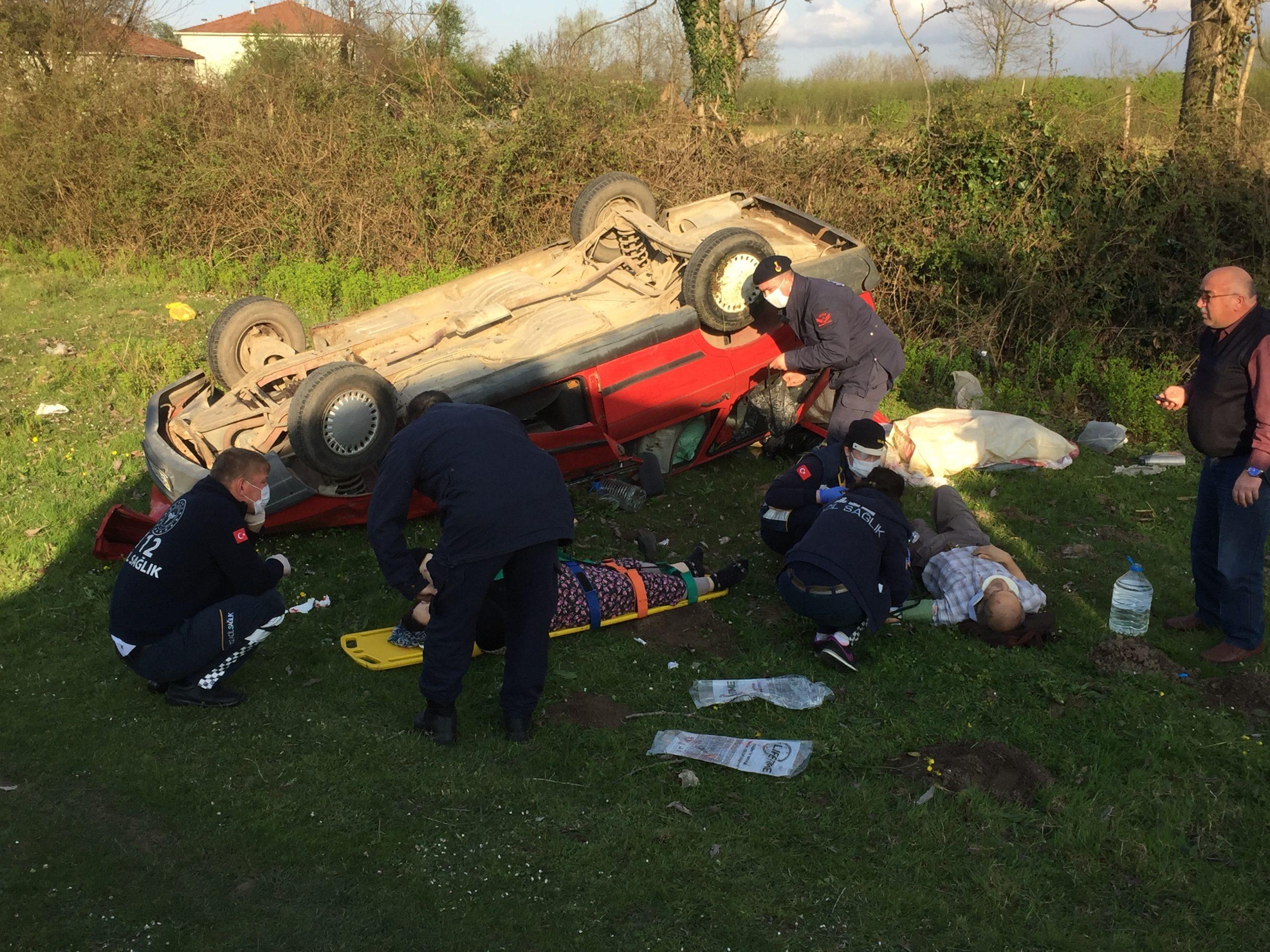 Çarşamba`da Trafik Kazası 2 Yaralı
