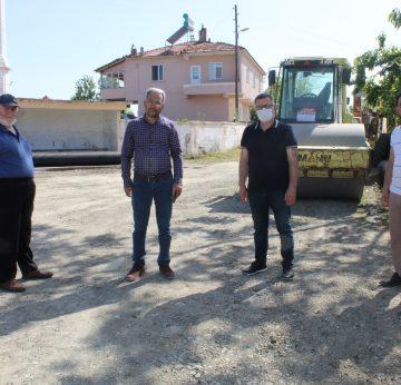 Bafra`da Köy Yolları Yenilendi