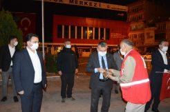 Atatürk'ün Havza'ya gelişinin 101. yıl dönümü için konvoy ve havai fişek gösterisi