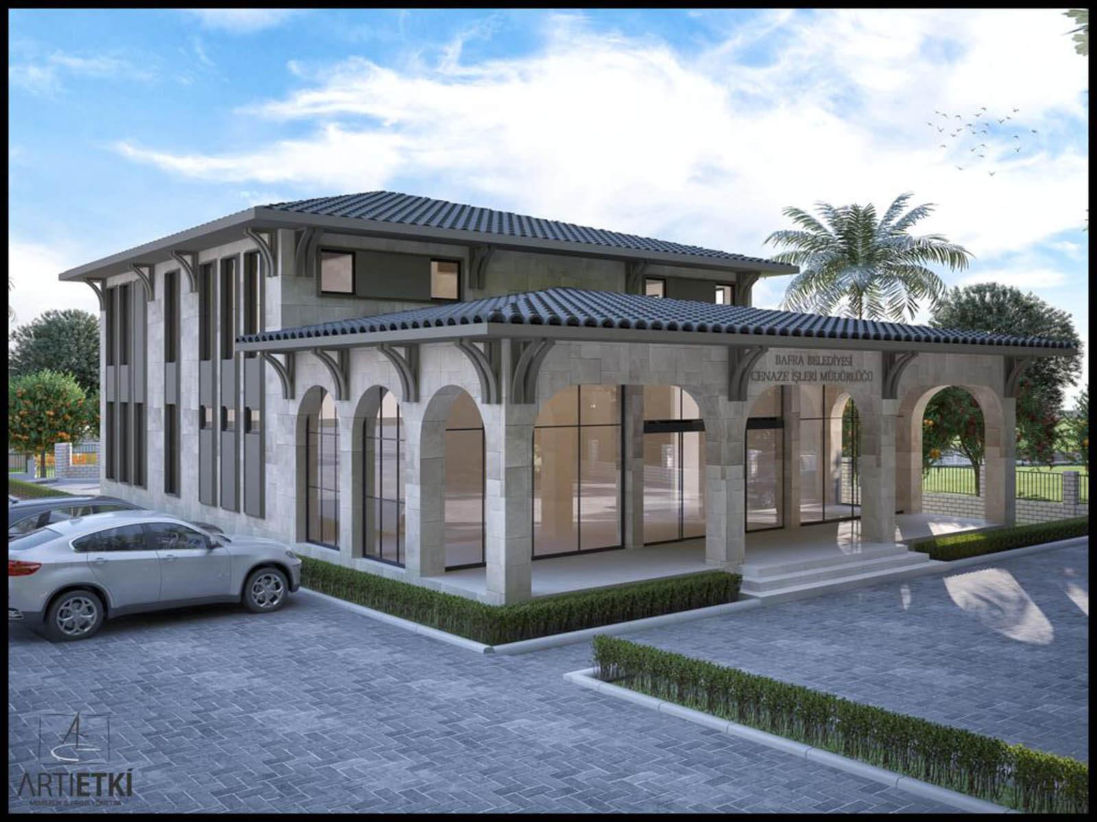 Bafra Belediye Başkanı Kılıç, yeni gasilhane inşaatını inceledi