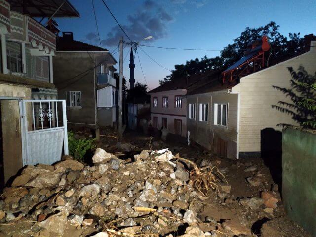 Bursa'nın Kestel ilçesinde sel felaketi