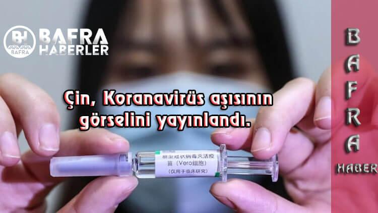 Koronaviürs'te son dakika: Çin, Koronavirüs aşısının görselini yayınlandı.