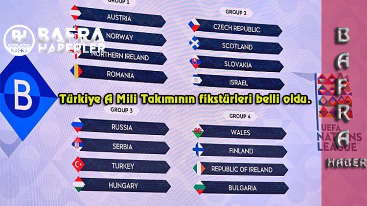 Türkiye A Mili Takımının fikstürleri belli oldu.