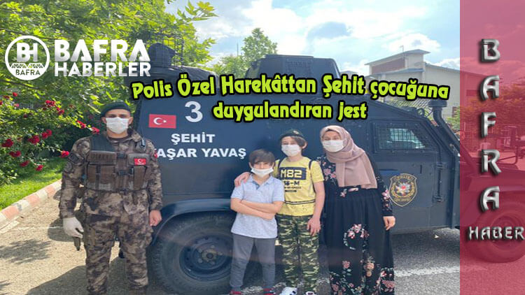 Polis Özel Harekâttan Şehit çocuğuna duygulandıran jest