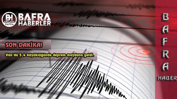 Son dakika: Van'da 5,4 büyüklüğünde deprem meydana geldi.