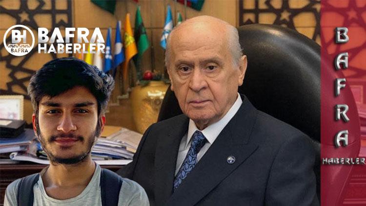 Devlet Bahçeli, YKS Şampiyonu Ümit Can Evleksiz'i Himayesi Altına Aldı