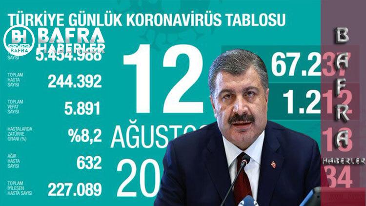 12 Ağustos 2020 Türkiye Günlük Koronavirüs Tablosu Yayınlandı