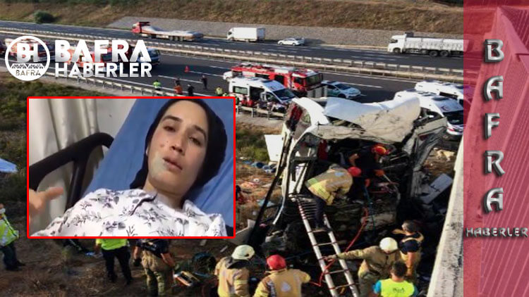 Kaza sonrası sağ salim kurtulan kadın açıklamalarda bulundu