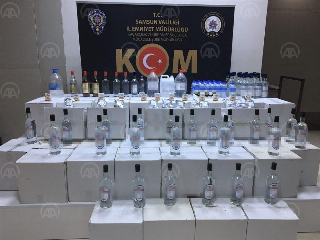 Samsun'da Kaçak İçki Operasyonu