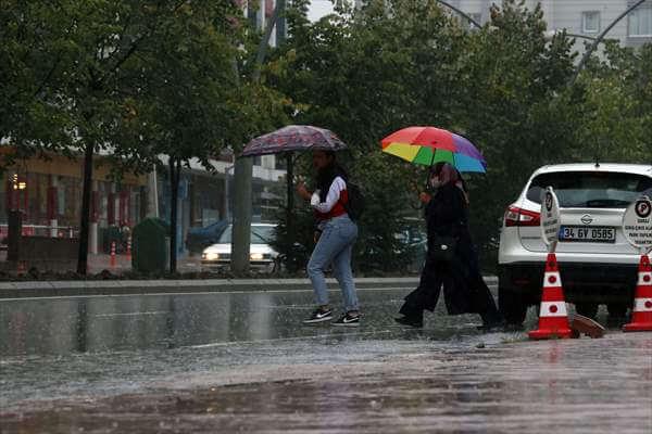Samsun'da Sağanak Yağış