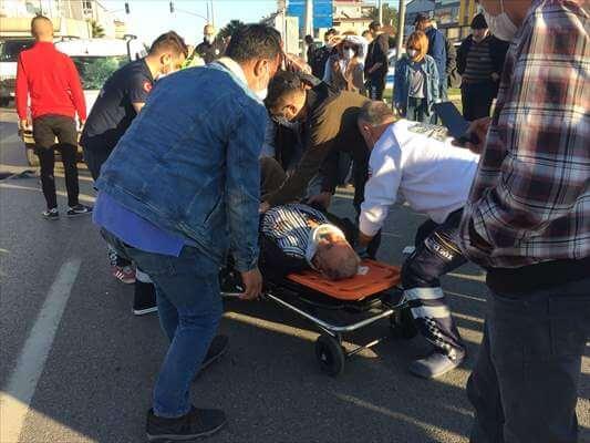 Hafif Ticari Aracın Çarptığı Bisikletli Yaralandı