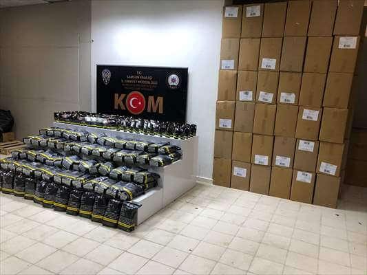 2 bin 555 Paket Sahte Bandrollü Tütün Ele Geçirildi