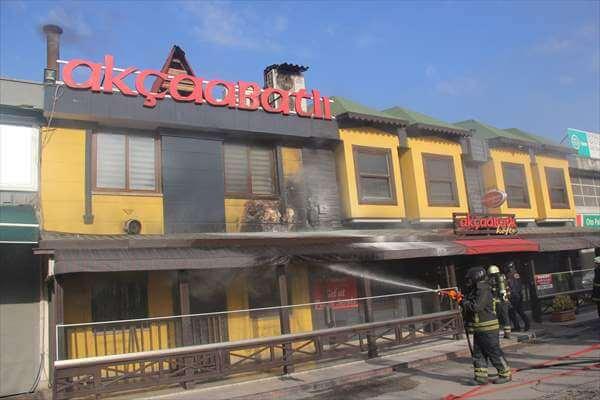 Canik'te Lokantada Çıkan Yangın Hasara Neden Oldu