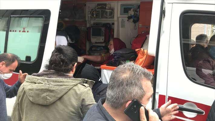 Samsun'da Komşular Arasında  Bıçaklı Kavga