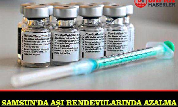 SAMSUN'DA COVİD-19 AŞI TALEBİ AZALDI !