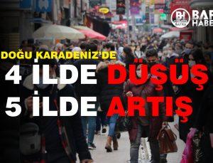 KARADENİZ'DE 5 İLDE ARTIŞ,4 İLDE DÜŞÜŞ