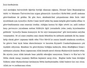 ayasofya imami istifa etti! 2
