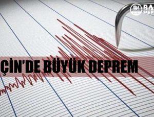 çi̇n'de büyük deprem, deprem görüntüleri̇: