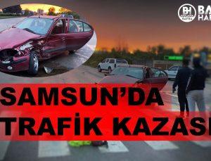 SAMSUN'DA TRAFİK KAZASI : 2 KİŞİ YARALANDI