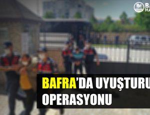 bafra'da uyuşturucu operasyonu: 13 gözalti