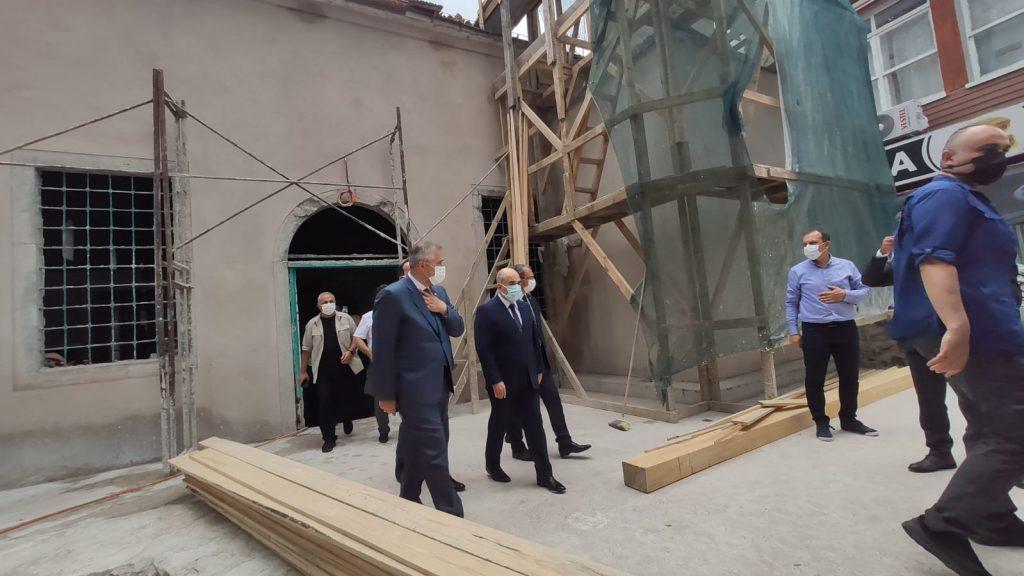 bafra çarşı camii ve efrahim ağa konağı restorasyonuna ziyaret 10