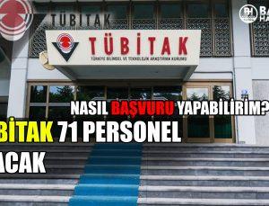 tubi̇tak 71 personel alacak! başvurular başladi