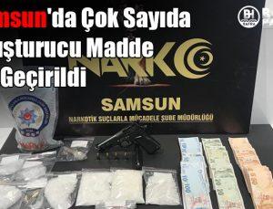 samsun'da çok sayıda uyuşturucu madde ele geçirildi