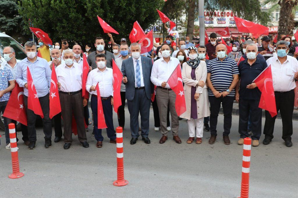 bafra'da 15 temmuz demokrasi ve birlik günü 16