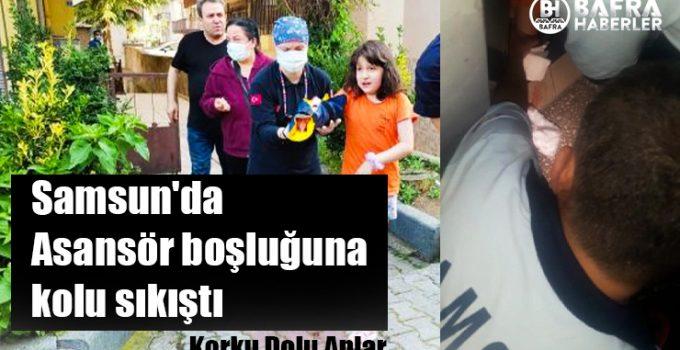 Samsun'da Küçük Kızın Kolu Asansör Boşluğuna Sıkıştı