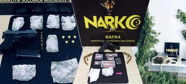 bafra'da uyuşturucu operasyonu: çok sayıda... 4