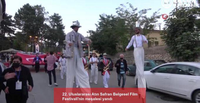 22. Uluslararası Atın Safran Belgesel Film Festivali'nin meşalesi yandı