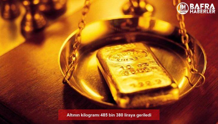 altının kilogramı 485 bin 380 liraya geriledi