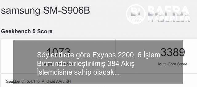 amd rdna 2 gpu'lu exynos 2200, geekbench'te göründü 8