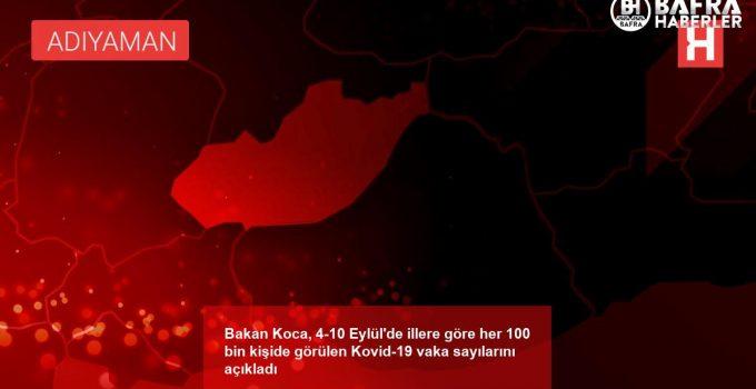 Bakan Koca, 4-10 Eylül'de illere göre her 100 bin kişide görülen Kovid-19 vaka sayılarını açıkladı