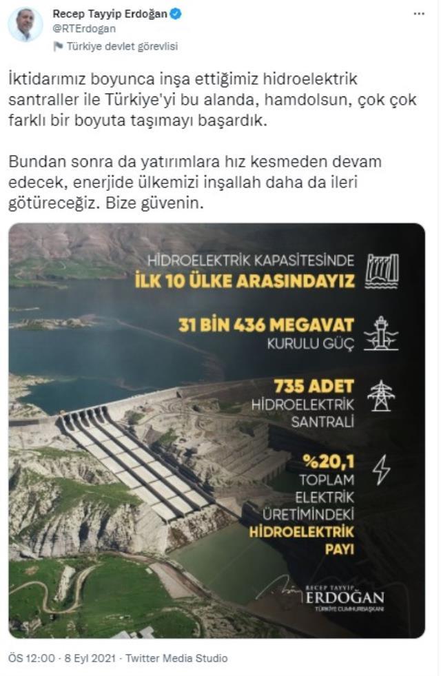 cumhurbaşkanı erdoğan: türkiye'yi hidroelektrik santralleri alanında çok farklı bir boyuta taşıdık 5