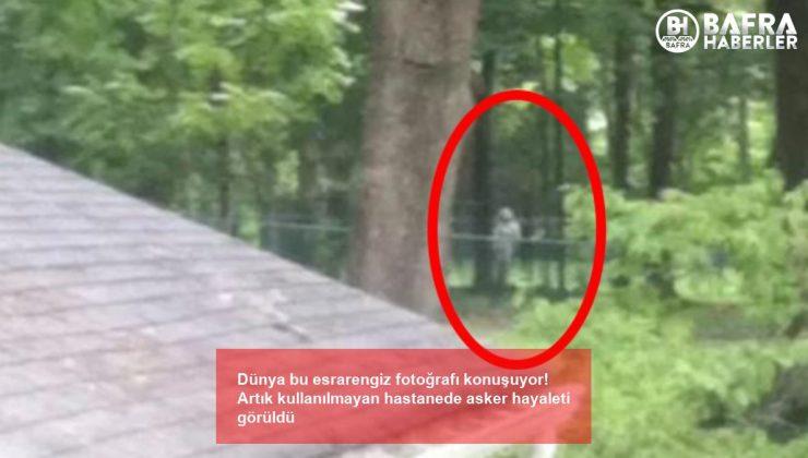 dünya bu esrarengiz fotoğrafı konuşuyor! artık kullanılmayan hastanede asker hayaleti görüldü