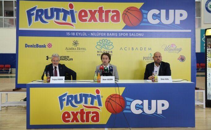 """""""frutti extra cup"""" basketbol turnuvası 15 eylül'de başlayacak"""