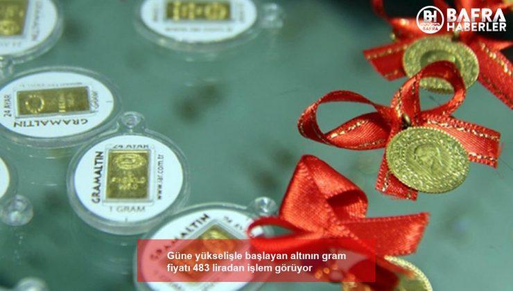 güne yükselişle başlayan altının gram fiyatı 483 liradan işlem görüyor
