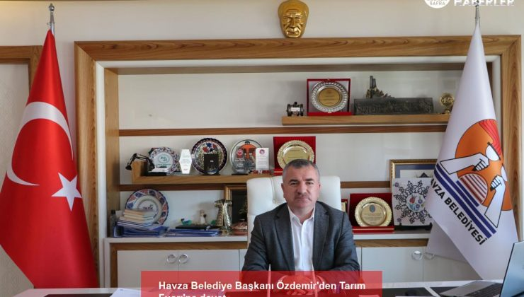 havza belediye başkanı özdemir'den tarım fuarı'na davet