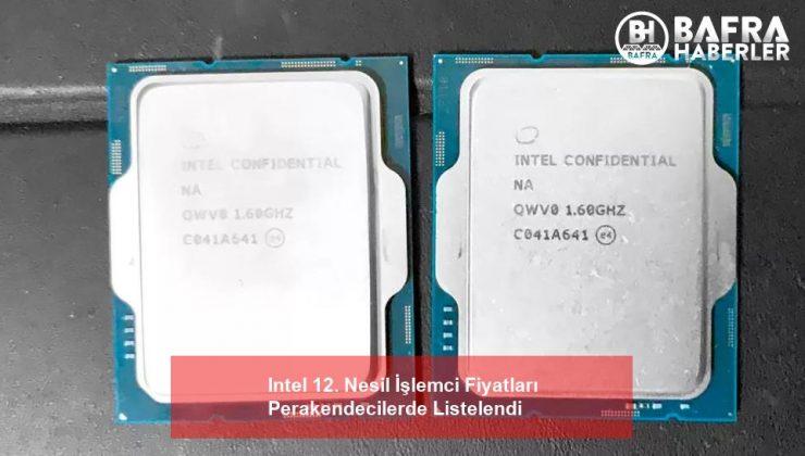 Intel 12. Nesil İşlemci Fiyatları Perakendecilerde Listelendi
