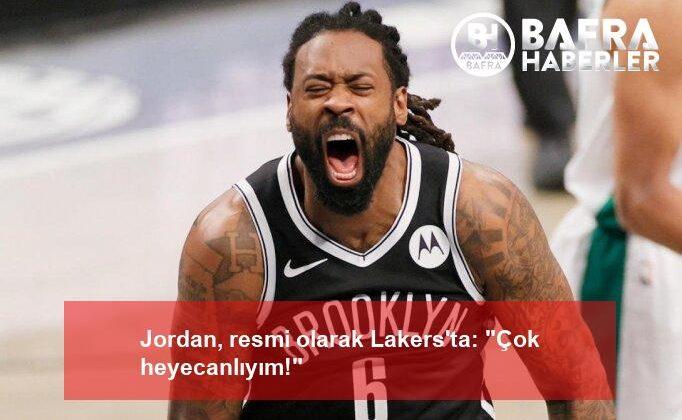 """jordan, resmi olarak lakers'ta: """"çok heyecanlıyım!"""""""