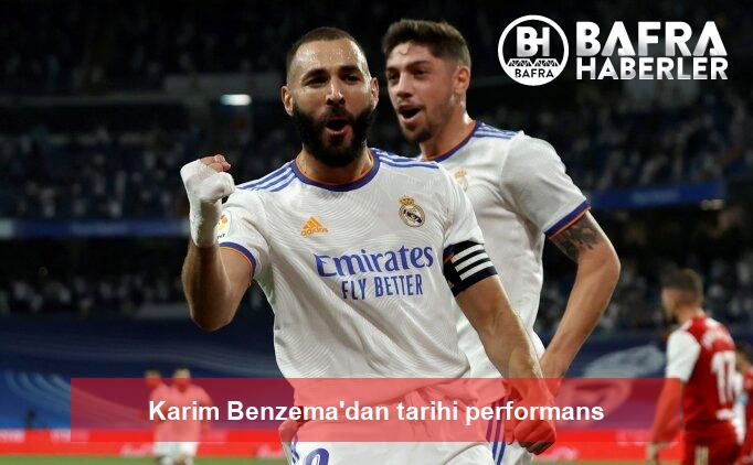 karim benzema'dan tarihi performans 2