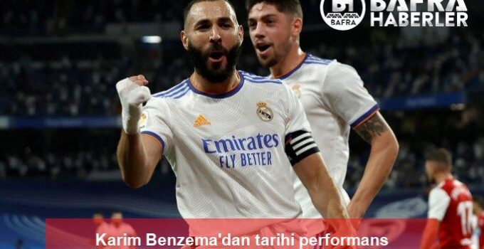 Karim Benzema'dan tarihi performans