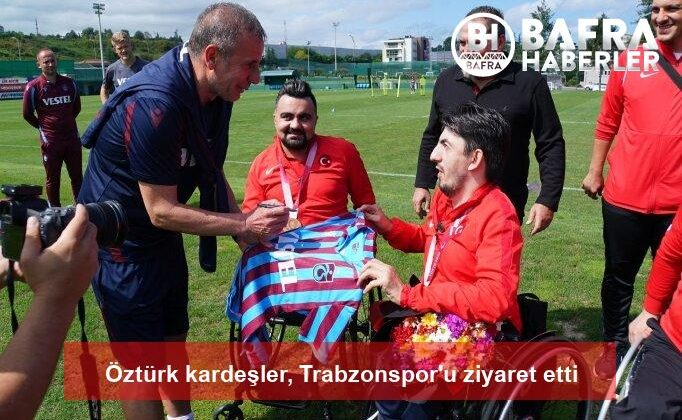 öztürk kardeşler, trabzonspor'u ziyaret etti