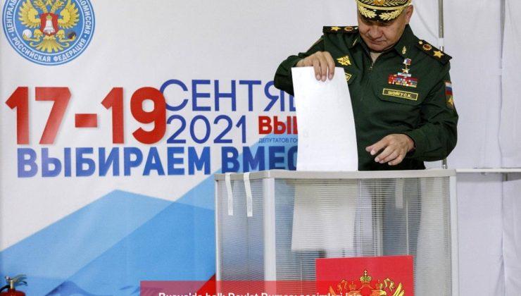 rusya'da halk devlet duması seçimleri için sandık başında