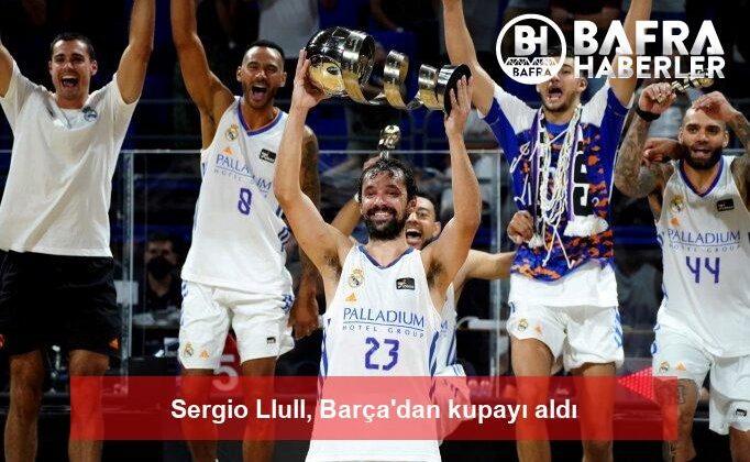 sergio llull, barça'dan kupayı aldı