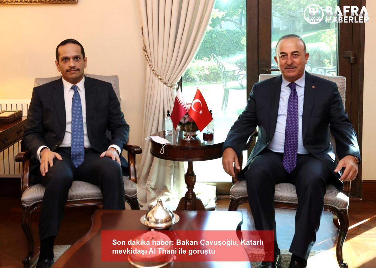 son dakika haber: bakan çavuşoğlu, katarlı mevkidaşı al thani ile görüştü 4