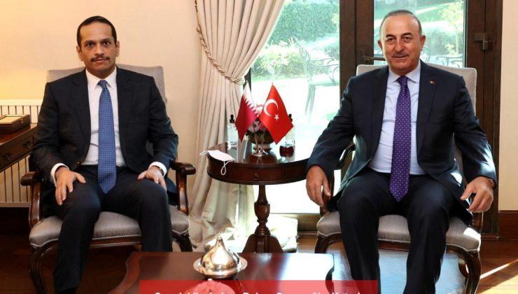 son dakika haber: bakan çavuşoğlu, katarlı mevkidaşı al thani ile görüştü