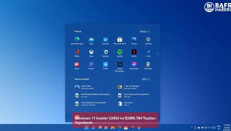 windows 11 insider 22454 ve 22000.184 yapıları yayınlandı